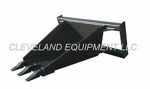 New Stump Bucket Attachment Skid Steer Loader Utility Tree Spade Holland Mustang