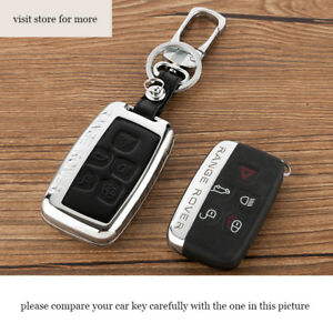 Car Key Case For Land Rover Range Rover Discovery 4 Evoque Freelander 2 Leather
