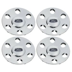 2007 2010 Ford Expedition Chrome Wheel Cover Center Hub Caps Set Of 4 Oem New