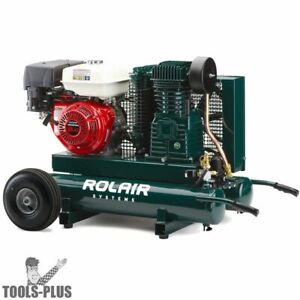 Rolair 7722hk28 9hp 9 Gal 2 Stage Portable Gas Powered Air Compressor New