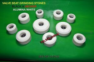 White Vibro Black Decker Valve Seat Grinding Stone Set 10 Pcs 28 Mm To 65 Mm