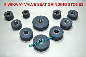 Kwikway Valve Seat Grinding Stone Set 10 Pc Steel Thread Bush Inside 13 16