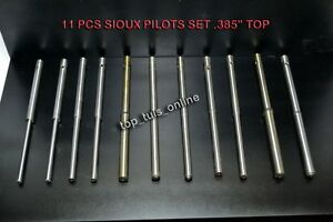 Sioux Valve Seat Grinder Pilots 385 Top Set Of 11 Pcs All Inch Sizes