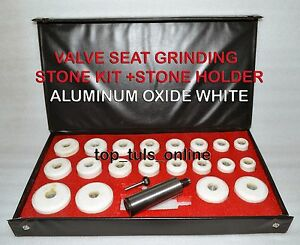 Valve Seat Grinder Stones Zircon White 20 Pcs Holder Kit Black Decker 80 Grt