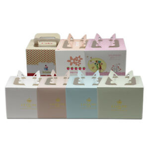 Kraft Paper Handle Box Cookies Candy Gift Party Wedding Favor Cake Gifts Boxes