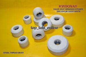 Kwikway Zirconia White Valve Seat Grinding Stone Set 10 Pc 90 Grit Medium