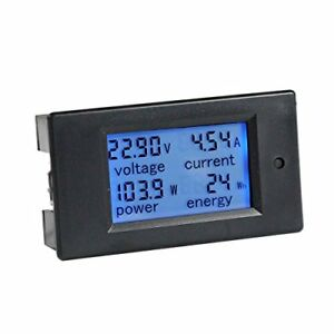 Multimeter Ammeter Voltmeter With 100 A Current Shunt And Lcd Display Digital