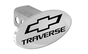 Chevrolet Traverse Logo Chrome Plated Trailer Tow Hitch Cover Plug Cap 2 Post