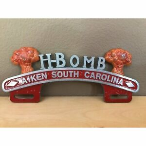 H Bomb License Plate Topper Fits Hot Street Rat Rods Muscle Cars Sbc V8 Av8 1932