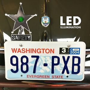 Safety Star Chromed License Plate Topper Green Led Illumination Fits Empi Okrasa