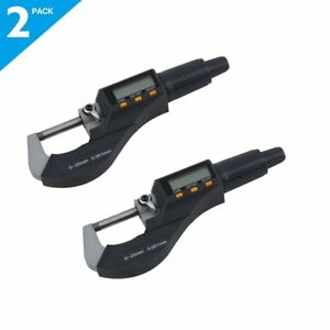 2pcs New Arrival 0 1 0 25mm Electronic Digital Micrometer Usa Good Quality