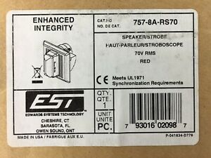757 8a rs70 Speaker Strobe 70v Rms Red Edwards Systems Technology Est Fire Alarm