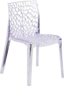 Banquet Vision Series Transparent Stacking Side Chair Restaurant F
