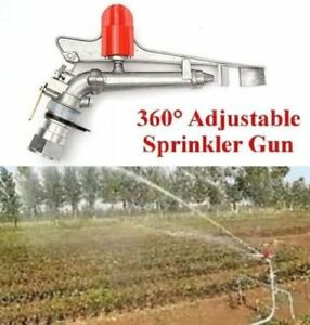 360 Adjustable Impact Sprinkler Gun Large Area Water Irrigation Spray Gun A