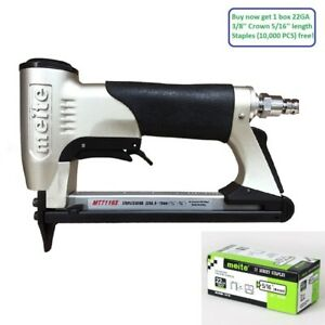 Meite Mt7116s 22ga 3 8 Crown Power Sapler Gun Upholstery Staplers With Safety