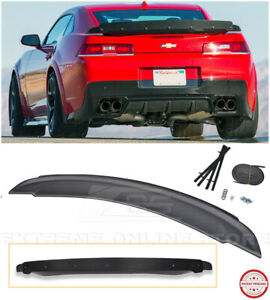 For 14 15 Camaro Zl1 Style Rear Wing Spoiler Carbon Fiber Wickerbill Insert