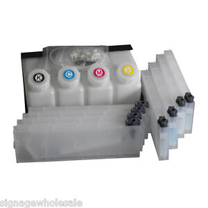 Oem Mutoh Vj 1604 Bulk Ink System 4 Bottles 8 Cartridges