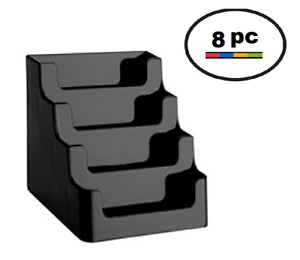 Black 4 Pocket Desktop Countertop Business Card Display Holder Wholesale