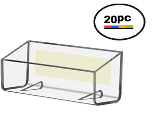 20 Acrylic Plastic Peel Stick Clear Wall Mount Business Card Holder Displays