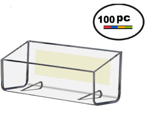 Clear Acrylic Peel Stick Wall Mount Business Card Holder Displays Lot Of 100