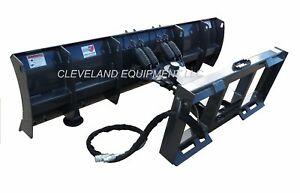 New 84 Compact Tractor Skid Steer Snow Plow Blade Attachment Caterpillar Cat