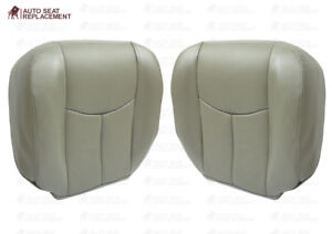 2003 To 2006 Chevy Tahoe Suburban Driver Passenger Bottom Leather Seat Cover