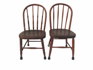 Pair Antique Children S Windsor Chairs Vintage 1940 S Kid S Chairs
