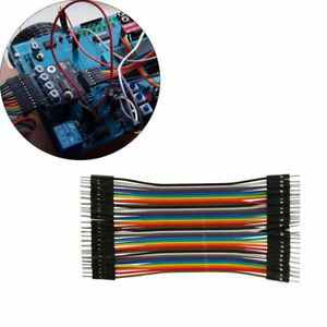 40pcs 20cm 2 54mm Male To Male Dupont Wire Jumper Cable For Arduino Breadboard