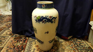 Late 19th C Huge Minton Chinese Dragon Vase 48 Cm Tall