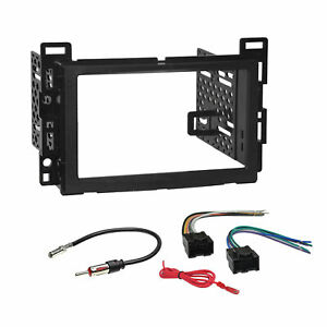 Car Radio Stereo Double Din Dash Kit Harness For 2006 up Chevy Pontiac Saturn