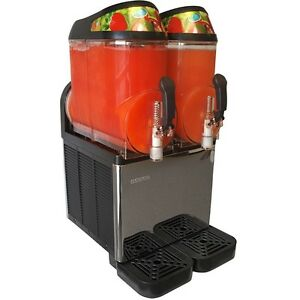 New Dual Bowl Margarita Slush Frozen Drink Machine Donper Xc224