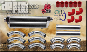 Red 2 5 Intercooler piping Kit Coupler Clamps bov Supra Celica Mr2 Ae86 Gts Tc