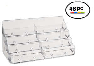48 Acrylic Plastic Business Card Holder Displays Deflecto Style Clear 8 Pocket