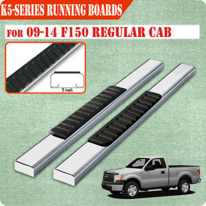 Fit 09 14 Ford F150 Regular Cab 5 Running Board Nerf Bar Side Step S s H