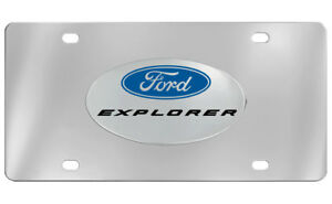 Ford Explorer Emblem Chrome Decorative Vanity License Plate