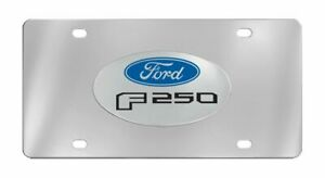Ford F 250 3d Emblem Chrome Decorative Vanity License Plate