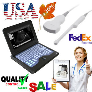 Cms600p2 Portable Laptop Ultrasound Scanner Machine 2 Probes Diagnostic System