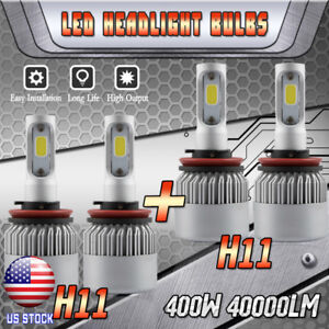Led Headlight Bulb For 2007 2017 Nissan Altima High Low Beam H9 H11 400w 40000lm