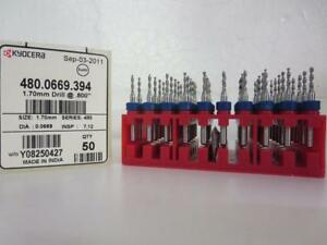 Kyocera 480 0669 394 1 70mm Std S480 Pcb Drill Bit 800 box Of 50