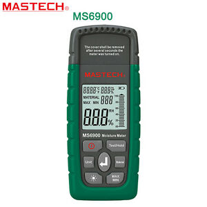 Digital Wood Moisture Meter Humidity Tester Timber Damp Hygrometer Lcd Detector
