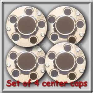 2001 2002 Chevy Impala Police Car 3 Screw Center Caps Bolt On Hubcaps Set Of 4