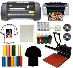 15x15 Heat Press Printer Ciss Ink 13 Laser Point Vinyl Cutter Plotter Startup