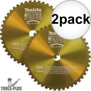 Makita A 90685 6 1 4 46 Tooth Metal Cutting Saw Blade With 5 8 Arbor 2x New