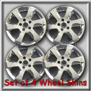 Fits 2008 2009 Nissan Altima Wheel Skins Chrome 16 Hubcaps Wheel Covers Set 4