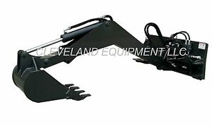 New Swing Arm Backhoe Attachment Excavator Skid Steer Loader Caterpillar Cat Jcb