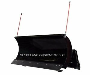 New 84 Premier Snow Plow Attachment Skid Steer Loader Hydraulic Angle Blade 7
