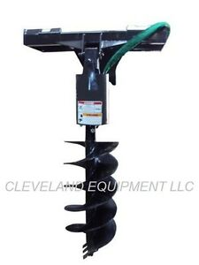 New Hd Auger Drive Post Hole Digger Attachment Skid Steer Loader Tractor Mini