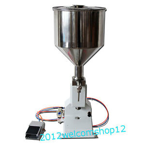 Stainless Steel Small Pneumatic Liquid And Cream Filling Machine 5ml To 50ml