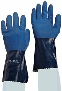 Nitrile Gloves Showa Atlas 720 12 l Size Small 12 Pairs Fully Coated Chem Res