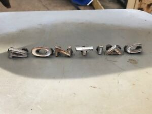 Vintage Pontiac Letter Emblems Set Very Early